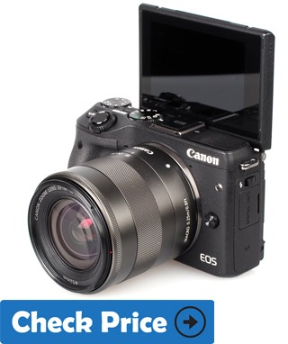 Canon EOS M3 best camera for vloggers with flip screen