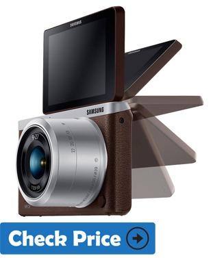 Samsung NX Mini best vlog camera with flip screen