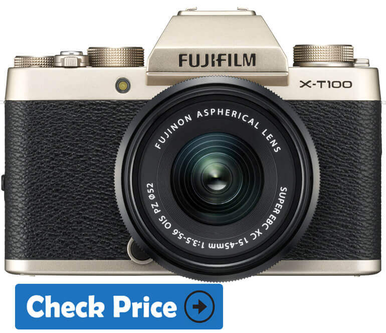 Fujifilm X-T100 mirrorless camera under 1000