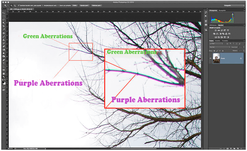 Chromatic Aberration Green purple