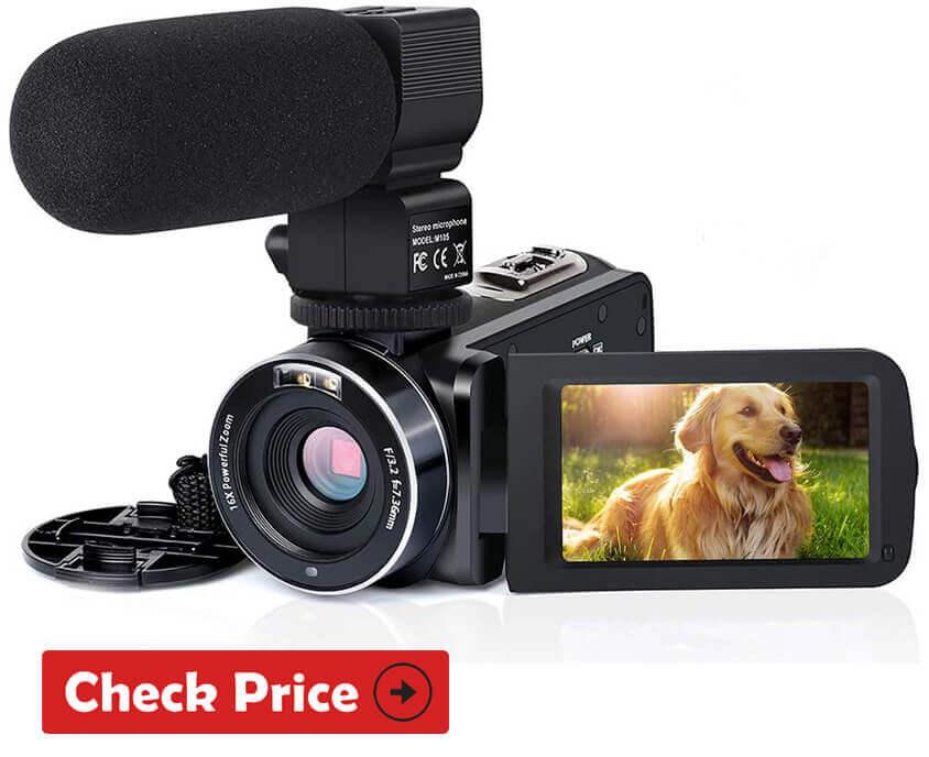Actinow Camcorder Best Vlogging Camera Under 200 USD